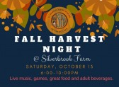 Join us for Fall Harvest Night–Saturday, Oct. 13